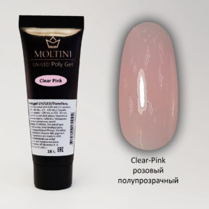 Полигель Moltini Clear-Pink, 18 гр