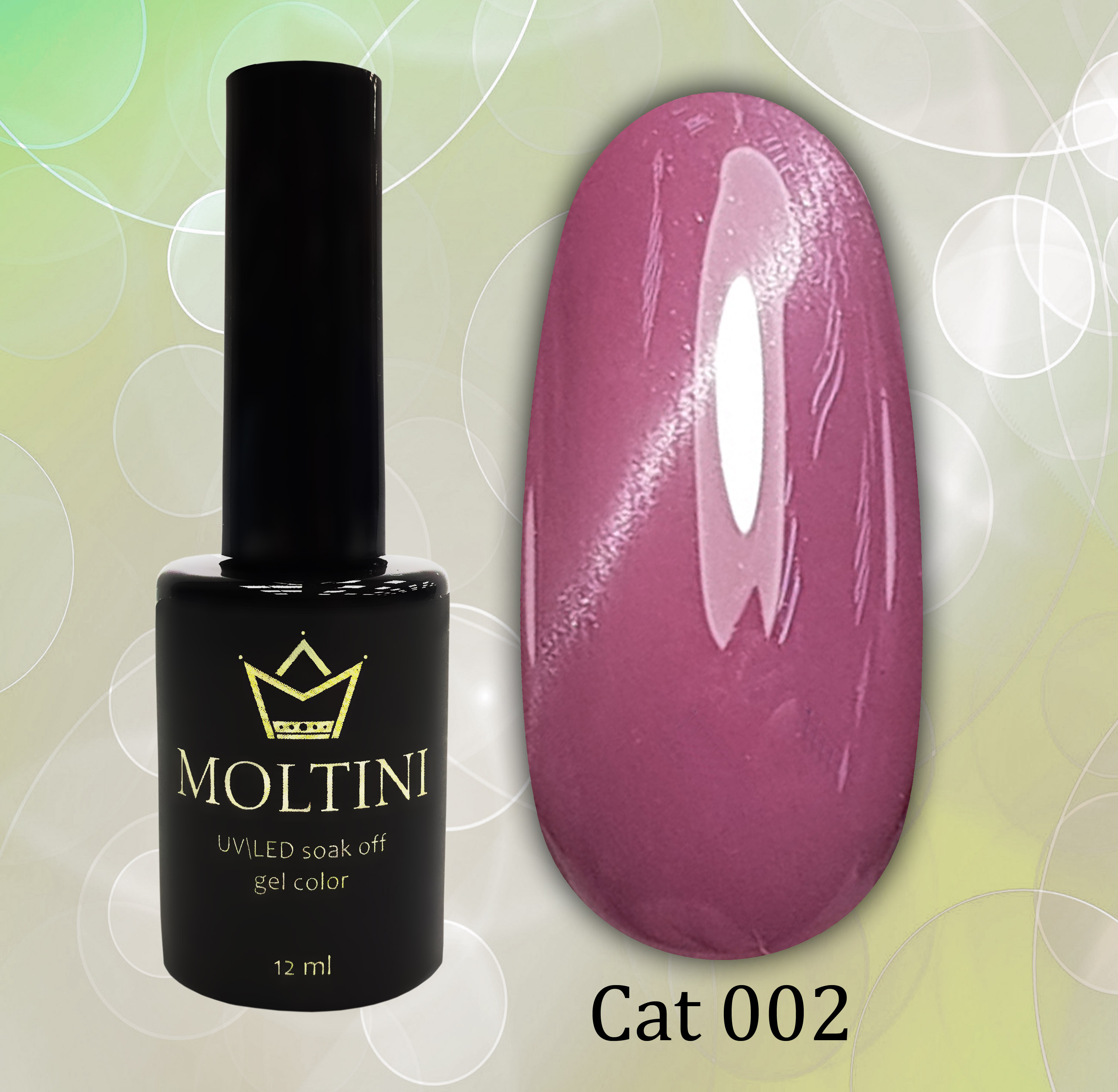 Гель-лак Moltini Cat Eye 002