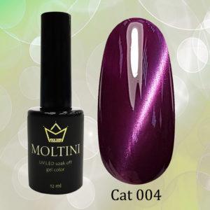 Гель-лак Moltini Cat Eye 004, 12 ml