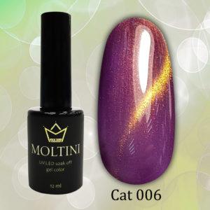Гель-лак Moltini Cat Eye 006, 12 ml