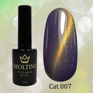 Гель-лак Moltini Cat Eye 007, 12 ml