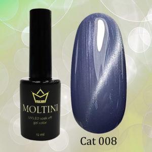 Гель-лак Moltini Cat Eye 008, 12 ml