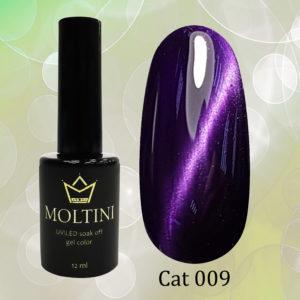 Гель-лак Moltini Cat Eye 009, 12 ml
