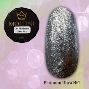 Гель-лак Moltini Platinum Ultra 01, 6 ml
