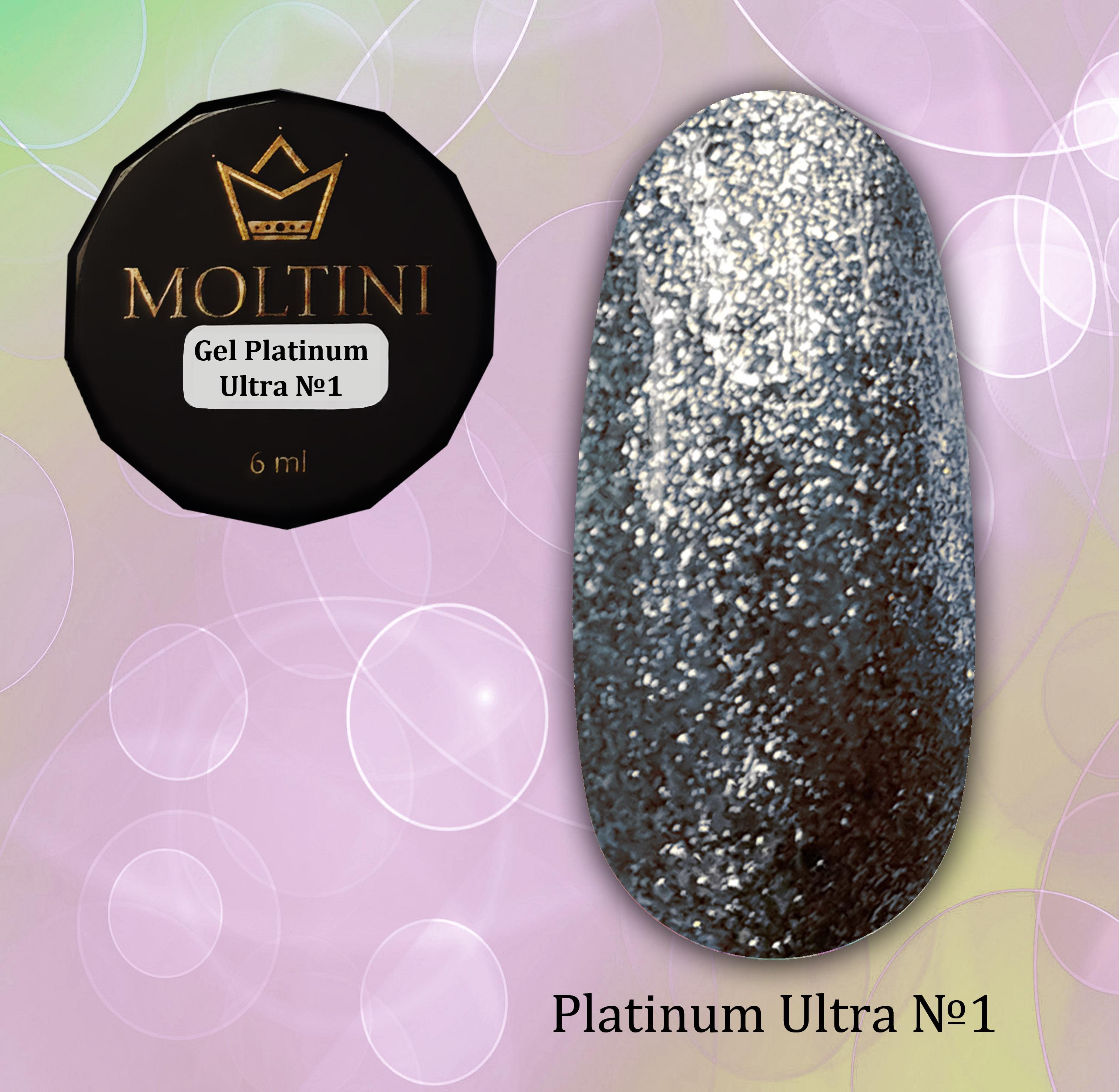 Гель-лак Moltini Platinum Ultra 01