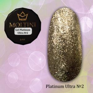 Гель-лак Moltini Platinum Ultra 02, 6 ml