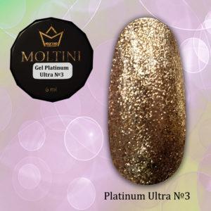 Гель-лак Moltini Platinum Ultra 03, 6 ml