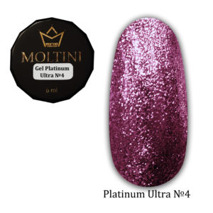 Гель-лак Moltini Platinum Ultra 04, 6 ml