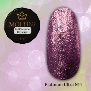 Гель-лак Moltini Platinum Ultra 04, 6 ml