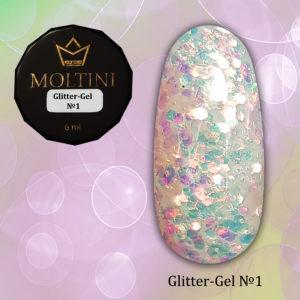 Глиттер-гель Moltini G01, 6 гр