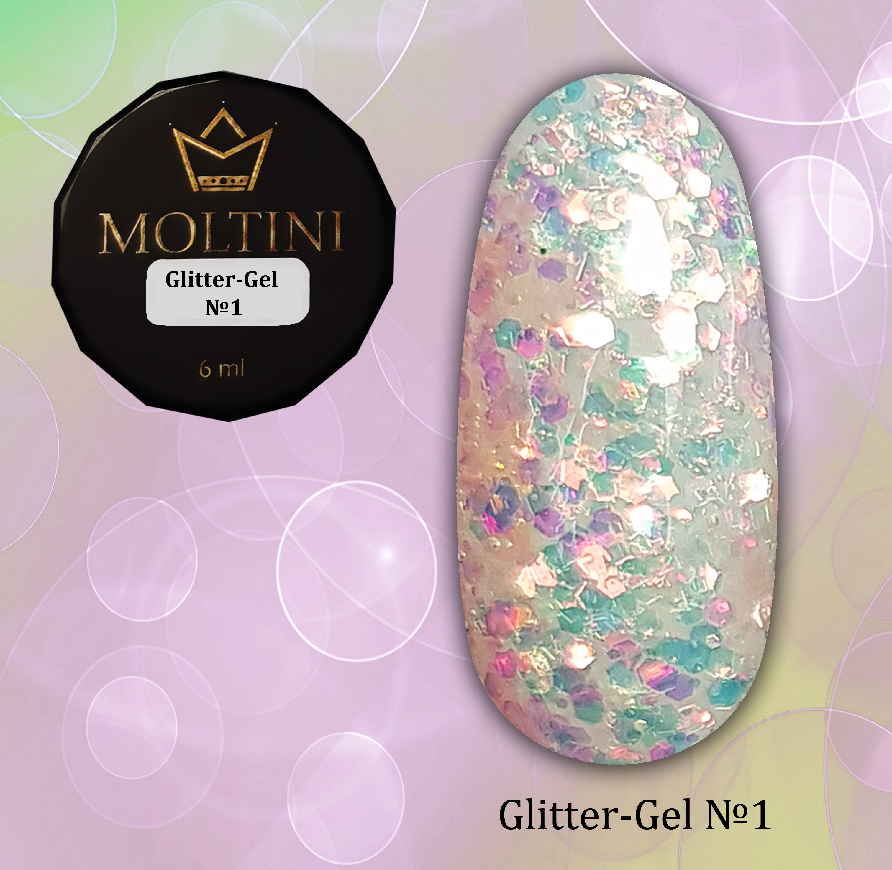 Глиттер-гель Moltini G01