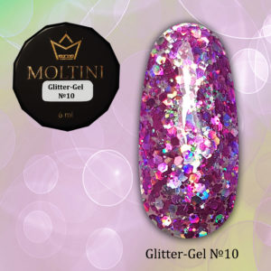 Глиттер-гель Moltini G10, 6 гр