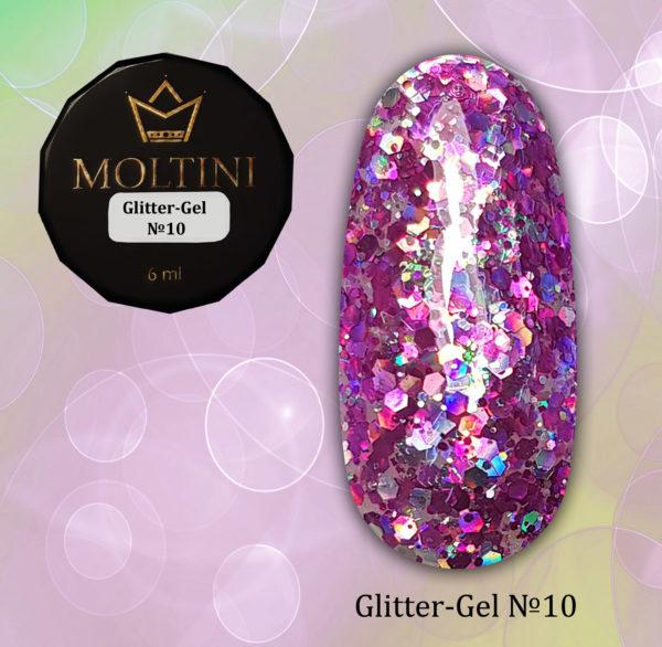 Глиттер-гель Moltini G10