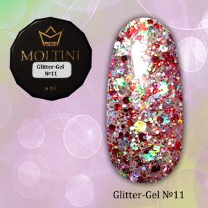 Глиттер-гель Moltini G11, 6 гр