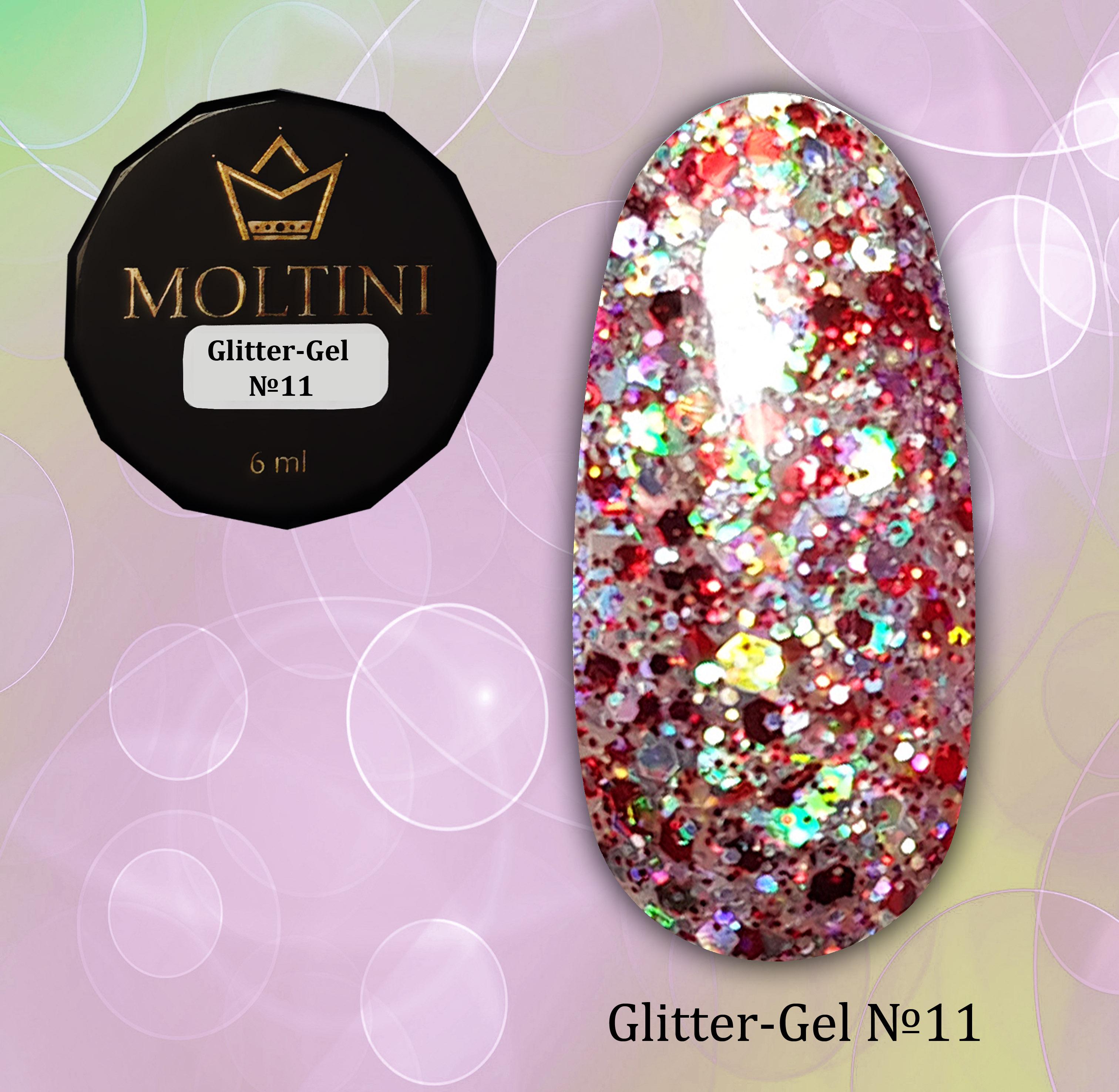 Глиттер-гель Moltini G11