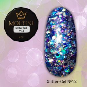 Глиттер-гель Moltini G12, 6 гр
