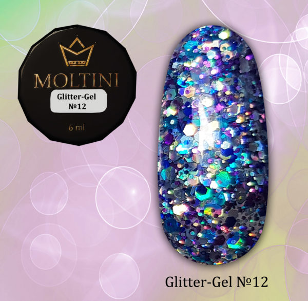 Глиттер-гель Moltini G12