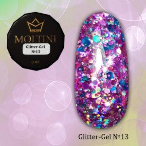 Глиттер-гель Moltini G13, 6 гр