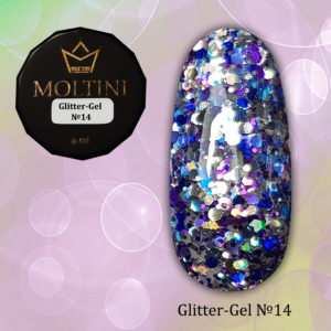Глиттер-гель Moltini G14, 6 гр