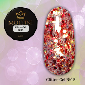 Глиттер-гель Moltini G15, 6 гр