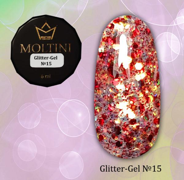 Глиттер-гель Moltini G15