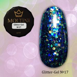 Глиттер-гель Moltini G17, 6 гр
