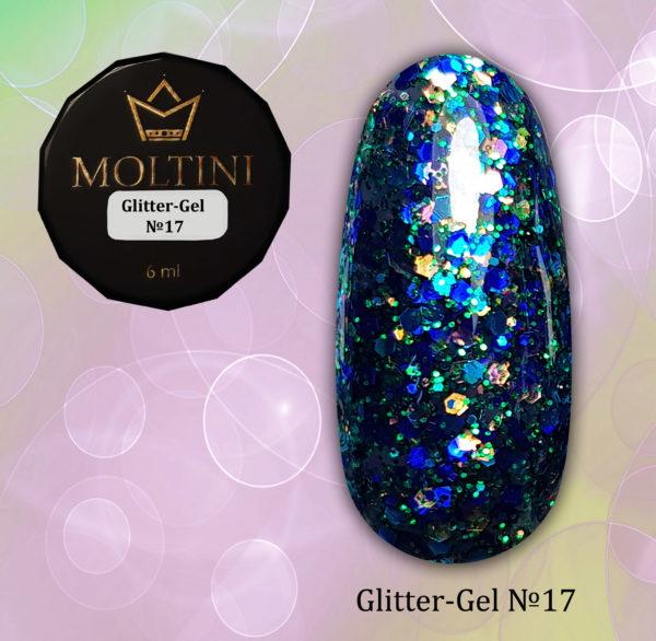 Глиттер-гель Moltini G17
