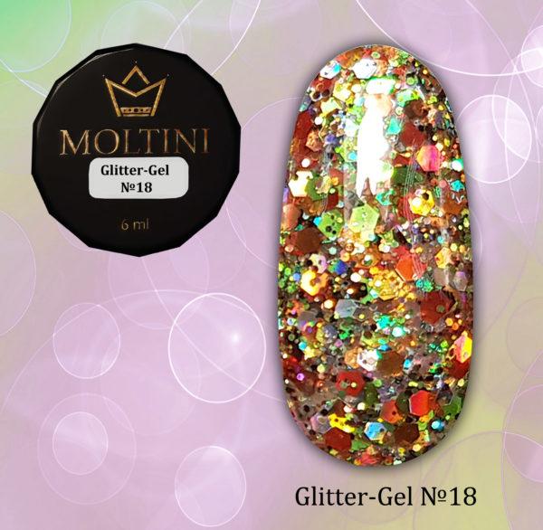 Глиттер-гель Moltini G18