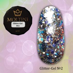 Глиттер-гель Moltini G02, 6 гр