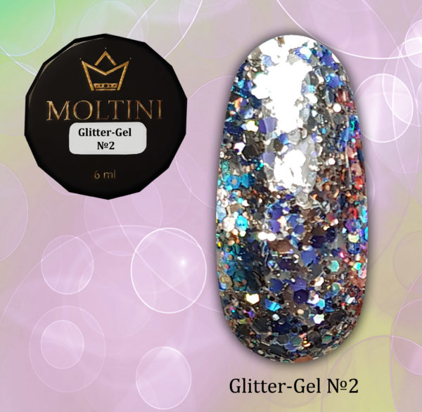 Глиттер-гель Moltini G02