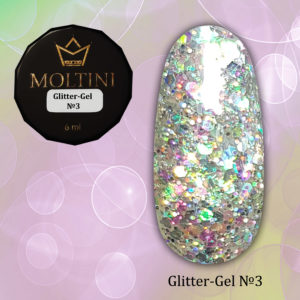Глиттер-гель Moltini G03, 6 гр