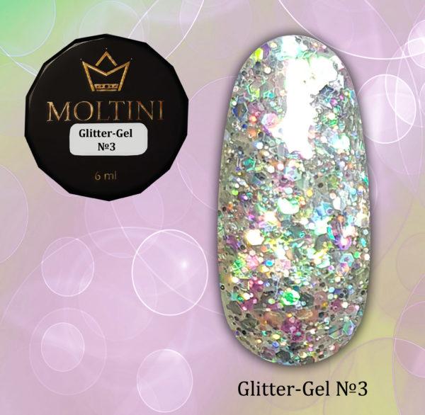 Глиттер-гель Moltini G03