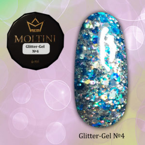 Глиттер-гель Moltini G04, 6 гр