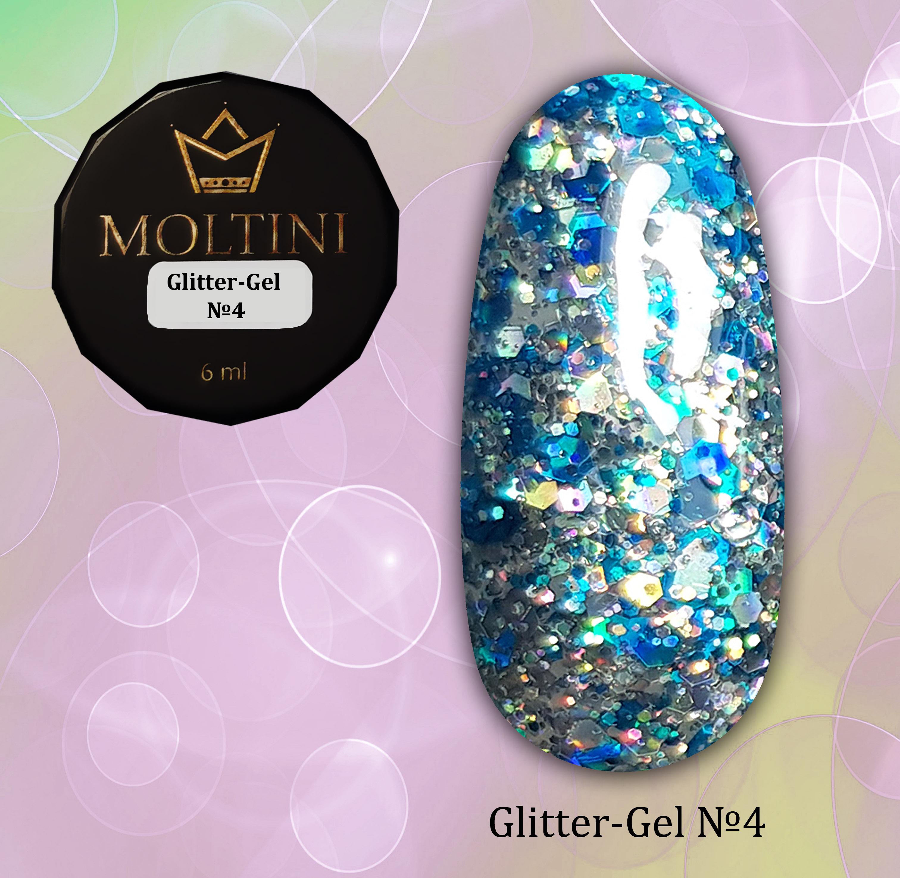 Глиттер-гель Moltini G04