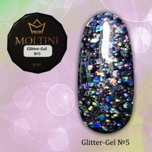 Глиттер-гель Moltini G05, 6 гр