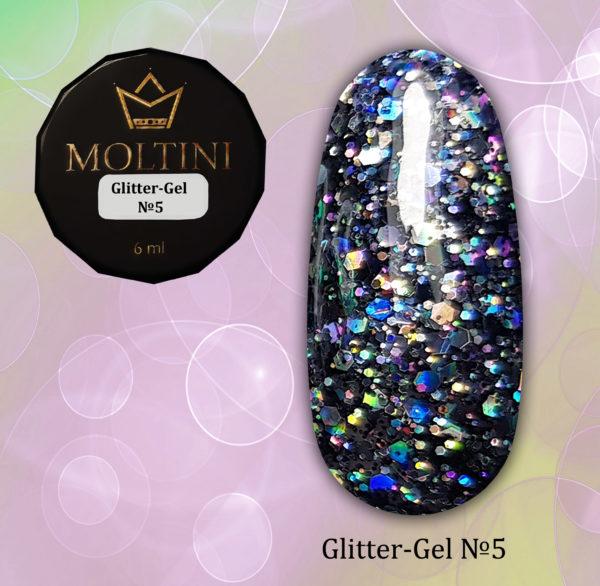 Глиттер-гель Moltini G05