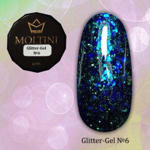 Глиттер-гель Moltini G06, 6 гр