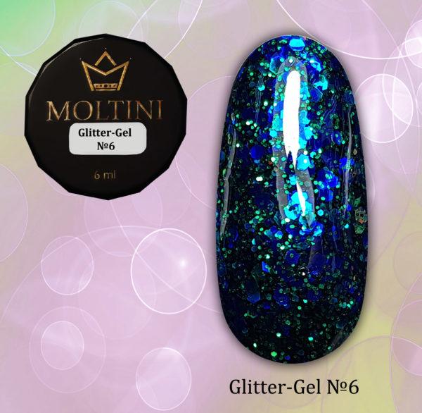 Глиттер-гель Moltini G06