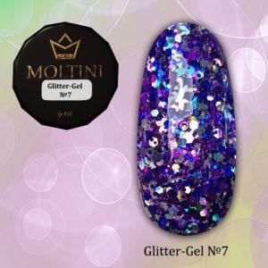 Глиттер-гель Moltini G07, 6 гр
