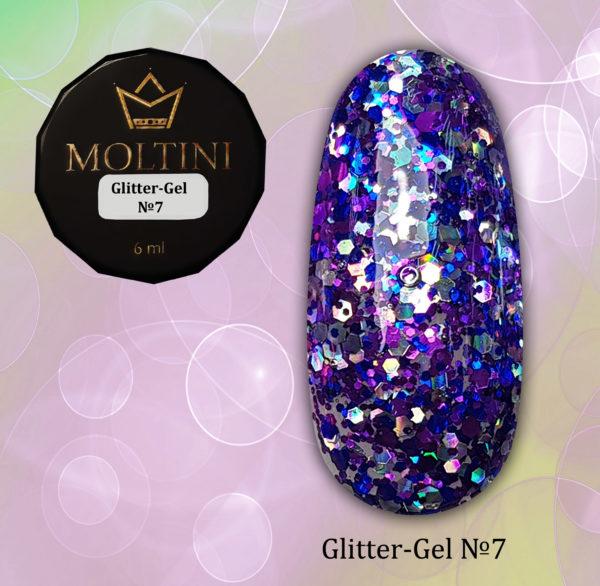 Глиттер-гель Moltini G07