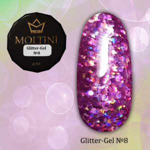 Глиттер-гель Moltini G08, 6 гр