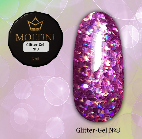 Глиттер-гель Moltini G08