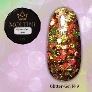 Глиттер-гель Moltini G09, 6 гр