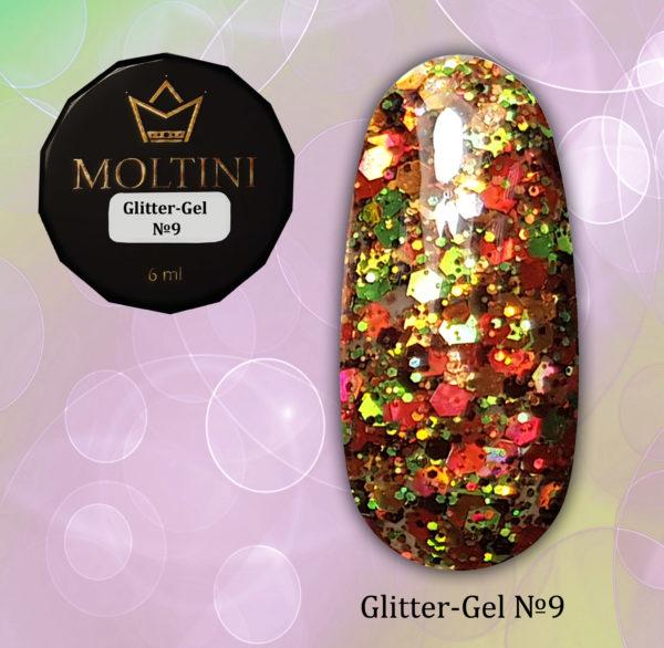 Глиттер-гель Moltini G09