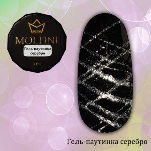 Гель-паутинка Moltini серебро, 6 гр