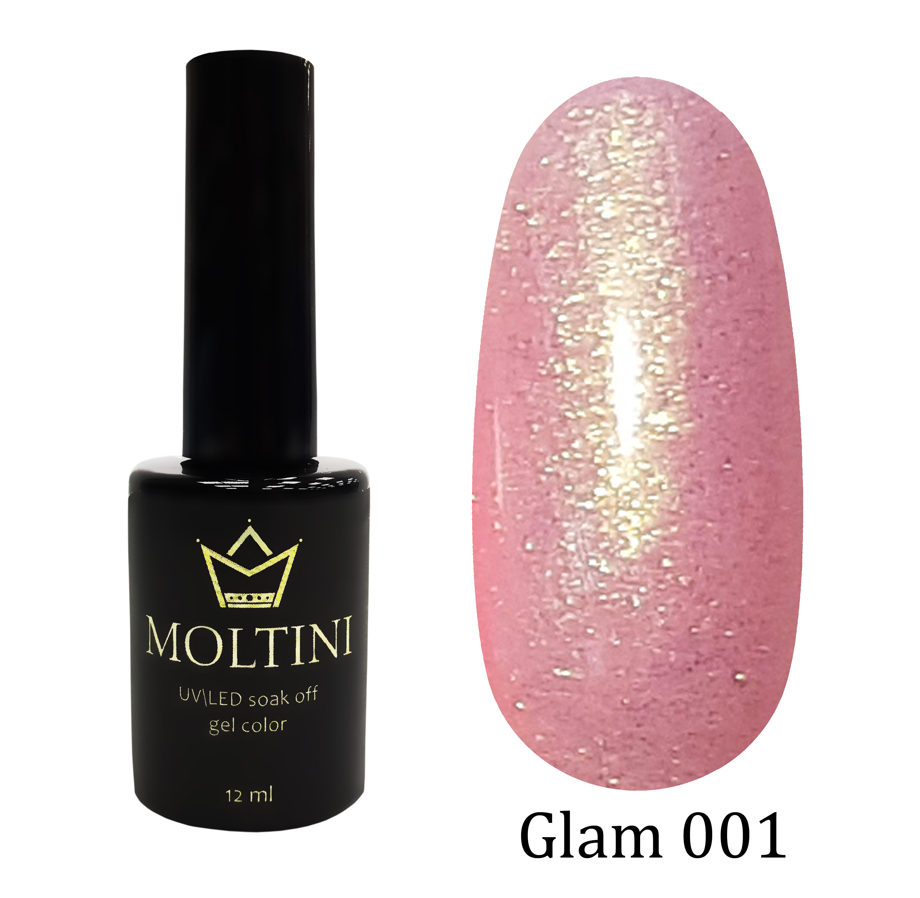 Гель-лак Moltini GLAM 001, 12 ml