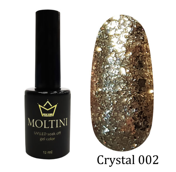 Гель-лак Moltini Crystal 002, 12 ml