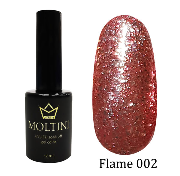 Гель-лак Moltini Flame 002, 12 ml