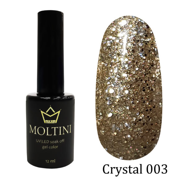 Гель-лак Moltini Crystal 003, 12 ml