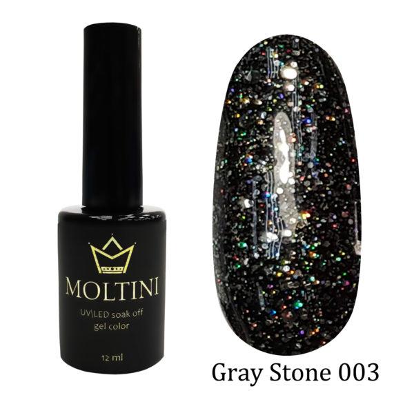 Гель-лак Moltini Gray Stone 003, 12 ml